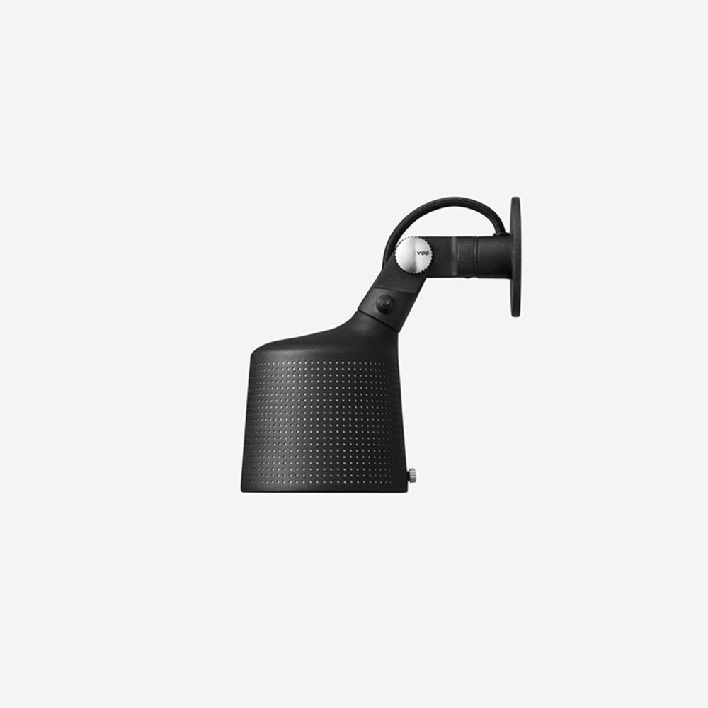 Vipp 524 Perforated Wall Spot Light Black