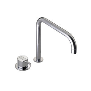 Vola - 590 One Handle Table Mounted Mixer Tap - Brushed Chrome