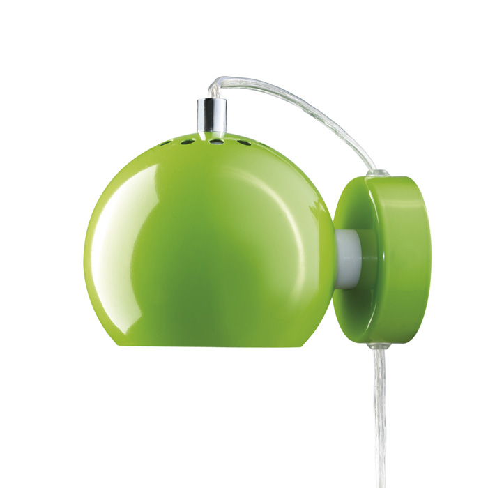 Lights For Green Wall : Frandsen - Magnet Glossy Lime Green Ball Wall Light Panik Design