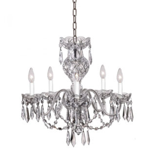 Waterford Comeragh 5 Arm Crystal Glass Chandelier
