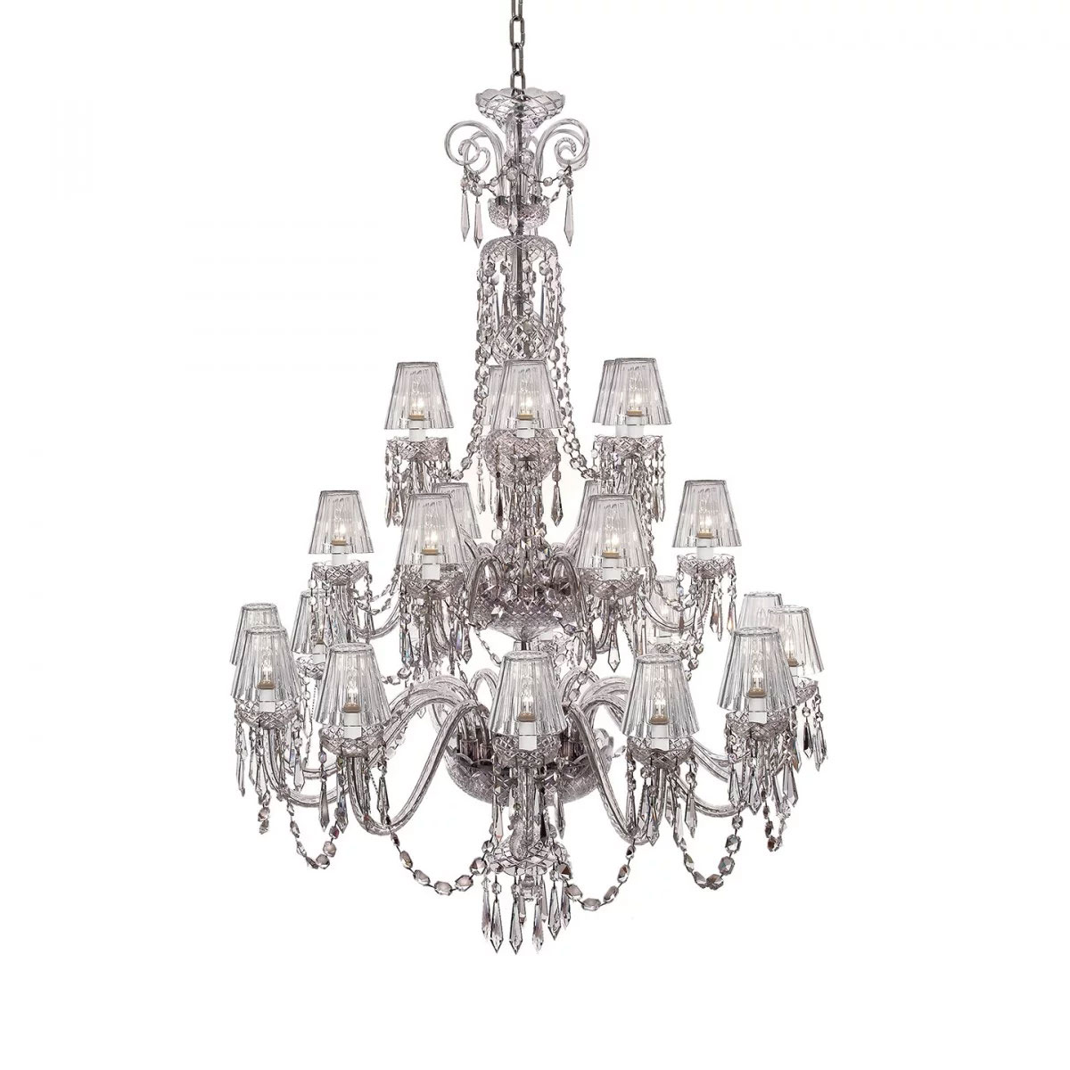Waterford Ardmore 24 Arm Chandelier with Crystal Shades