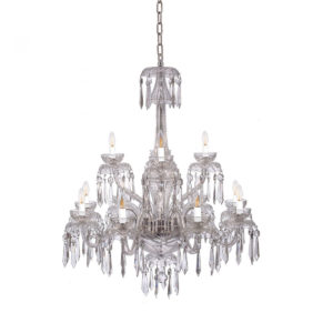 Waterford Powerscourt 12 Arm Crystal Glass Chandelier