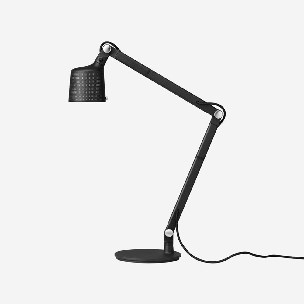Vipp 521 Perforated Desk Anglepoise Light Black