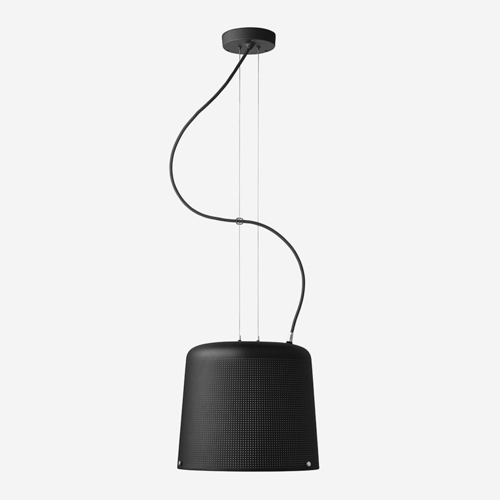Vipp 526 Perforated Suspension Light Black