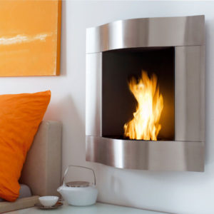 "Blomus - Fl""z Design - ""Chimo"" Wall Mounted Fireplace"