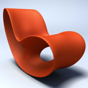 Magis - Voido Rocking Chair - Matt Orange