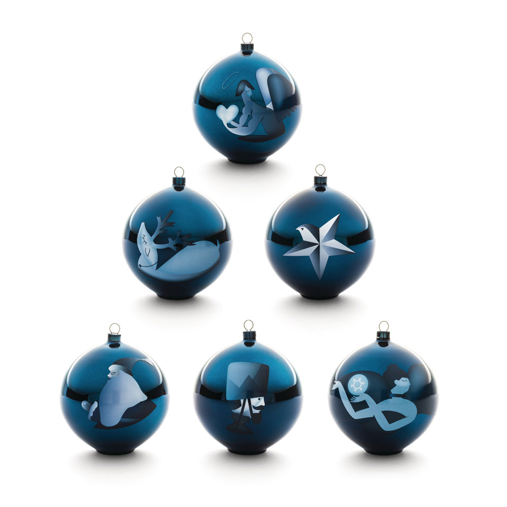 Alessi Blue Christmas Tree Hanging Ornament