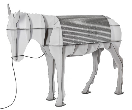 ibride Maturin Donkey Desk Mat Grey with LED Light