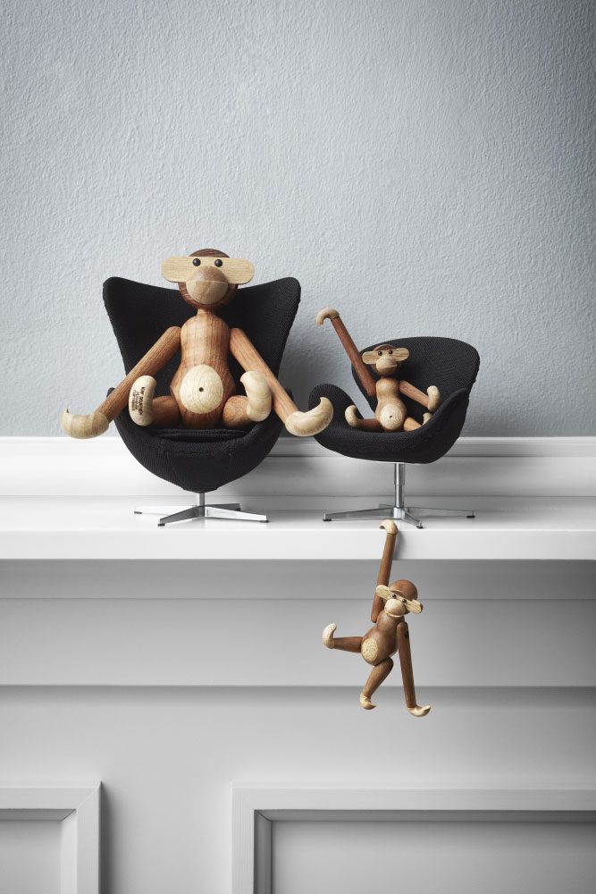 Kay Bojesen Mini Monkey Wooden Toy Panik Design