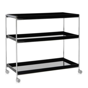 Kartell - Trays Trolley Glossy Black