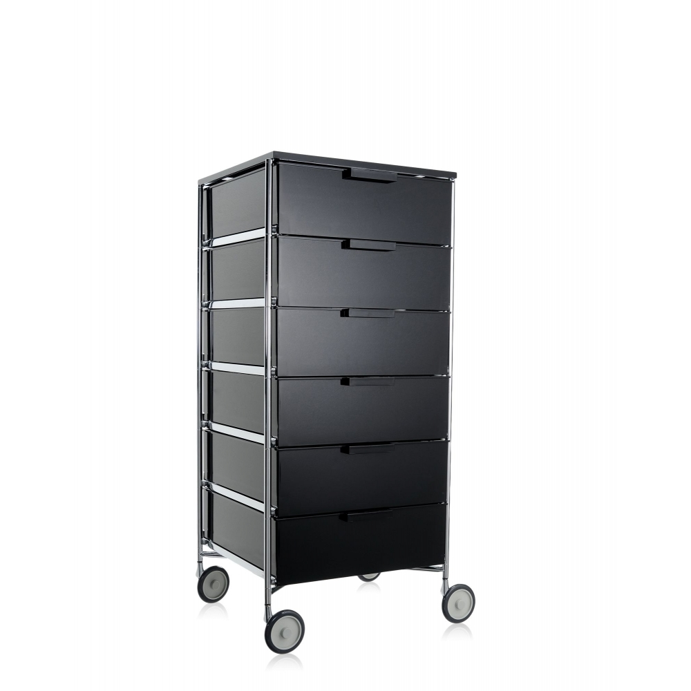 kartell mobil container 6 drawers with wheels panik design. Black Bedroom Furniture Sets. Home Design Ideas