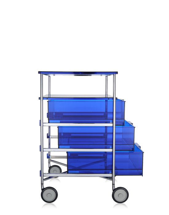 kartell mobil container 3 drawers with shelf with wheels panik design. Black Bedroom Furniture Sets. Home Design Ideas