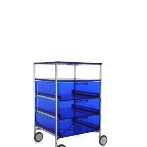 Kartell Mobil Container 3 Drawers with Shelf with Wheels