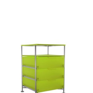 Kartell Mobil Container 3 Drawers with Shelf