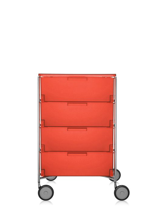 kartell mobil container 4 drawers with wheels panik design. Black Bedroom Furniture Sets. Home Design Ideas