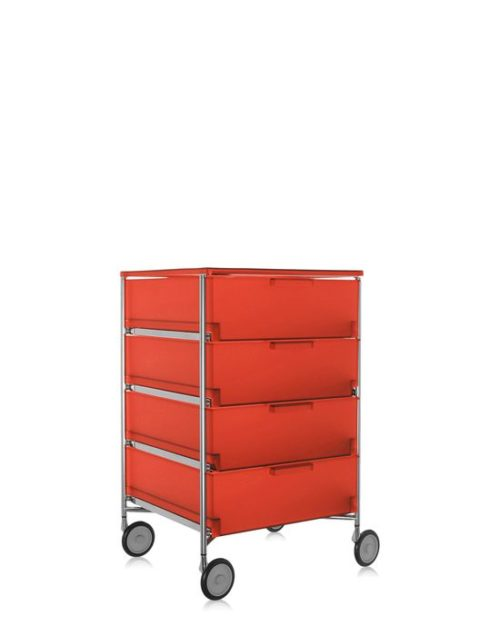Kartell Mobil Container 4 Drawers with Wheels