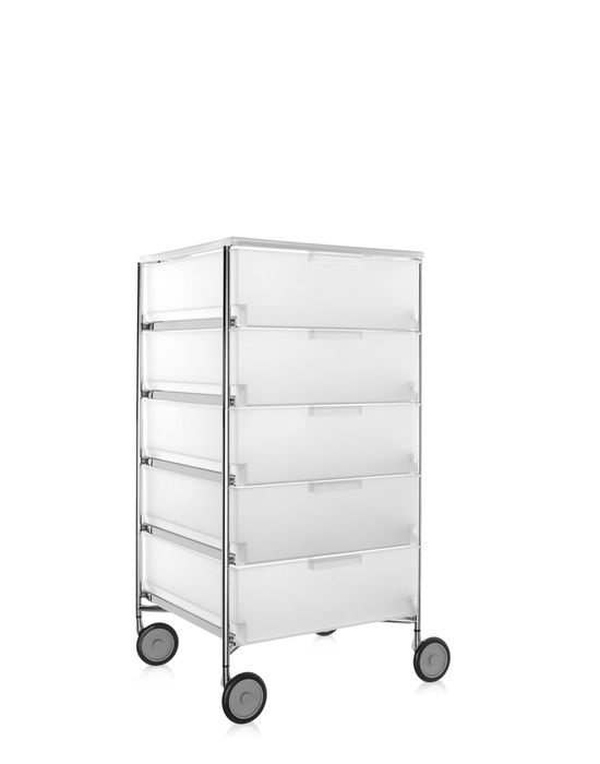 kartell mobil container 5 drawers with wheels panik design. Black Bedroom Furniture Sets. Home Design Ideas