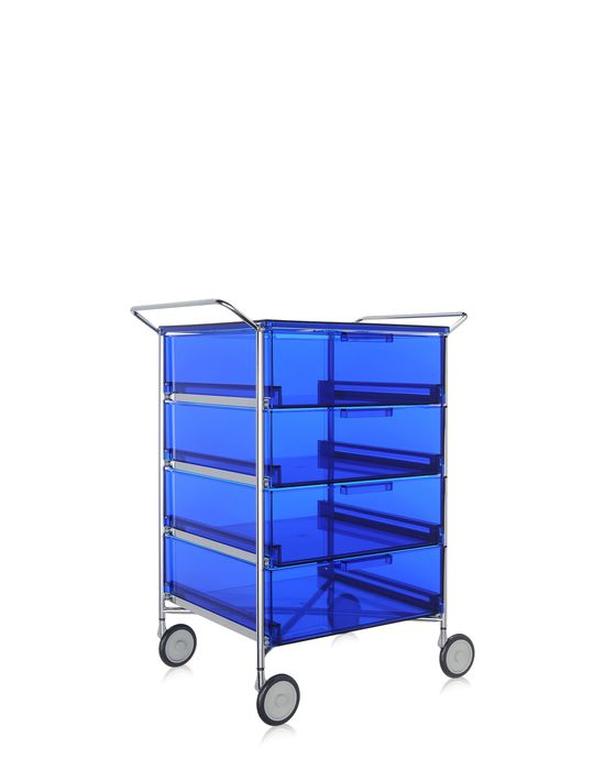 kartell mobil container handles 4 drawers with wheels panik design. Black Bedroom Furniture Sets. Home Design Ideas
