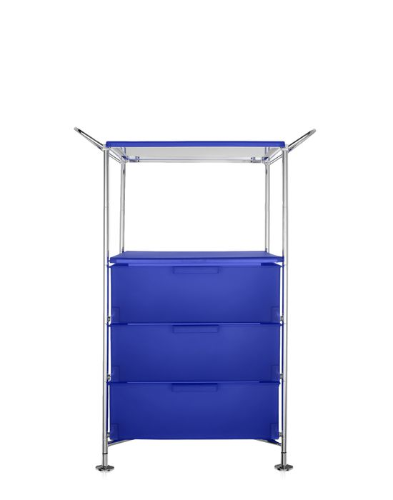 kartell mobil container handles 3 drawers with shelf. Black Bedroom Furniture Sets. Home Design Ideas
