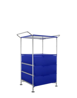 Kartell Mobil Container Handles 3 Drawers with Shelf