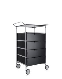 Kartell Mobil Container Handles 4 Drawers with Shelf and Wheels