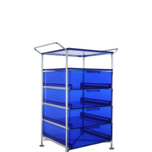 Kartell Mobil Container Handles 4 Drawers with Shelf