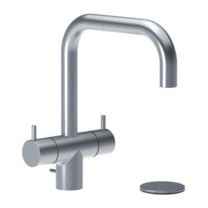 Vola w Arne Jacobsen KV7 Mixer Tap with Pop up Waste