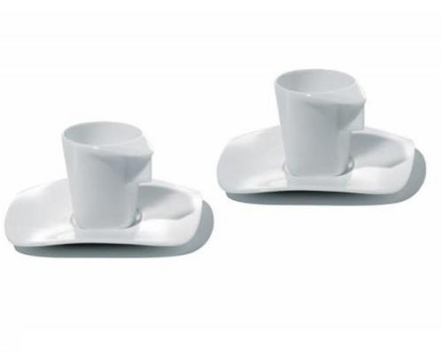 Alessi Express Set Of 2 Espresso Cups With Saucers Panik