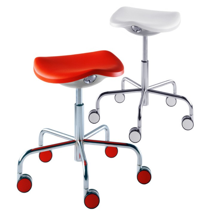 Rexite Welcome Stool w Castors Gas Lift Adjustable Height