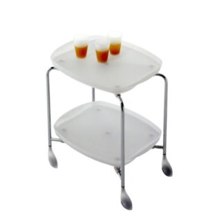 Rexite Tender Folding Trolley Translucent White