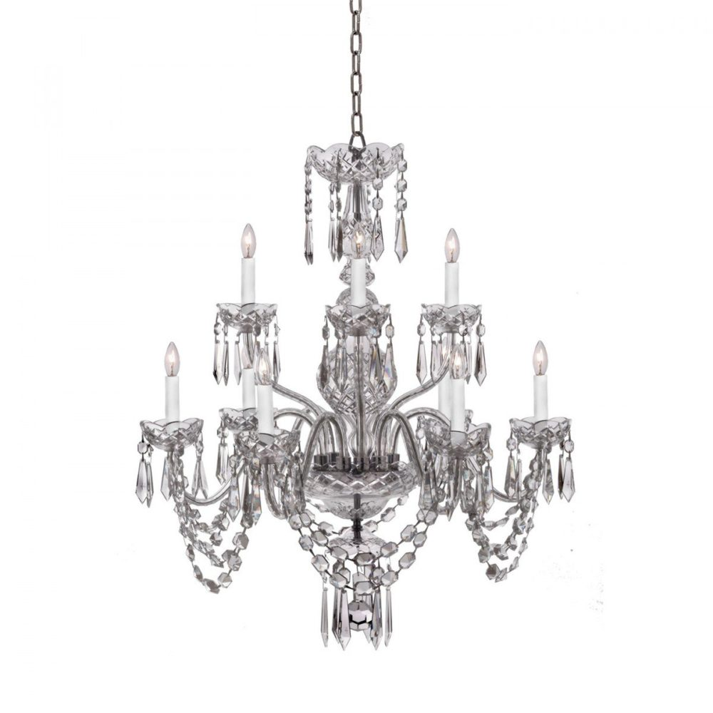 Waterford Ashbourne 9 Arm Crystal Glass Chandelier