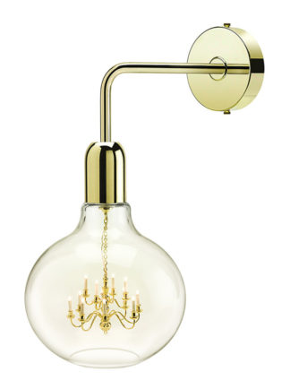 Mineheart Gold King Edison Wall Light