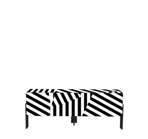 Driade Ziqqurat Striped Cabinet 1 High
