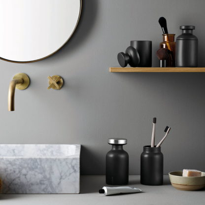 Eva Solo Ceramic Bathroom Jar Matt Black 1