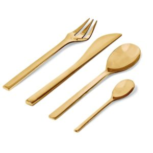 Alessi Colombina Cutlery 24pcs Brass