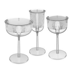 Qeeboo Goblet Crystal Light Side Table Stefano Giovannoni