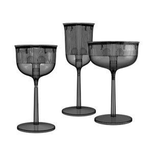 Qeeboo Goblet Smoke Light Side Table Stefano Giovannoni