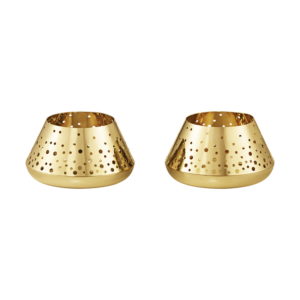 Georg Jensen Christmas Tealight 2pcs Gold