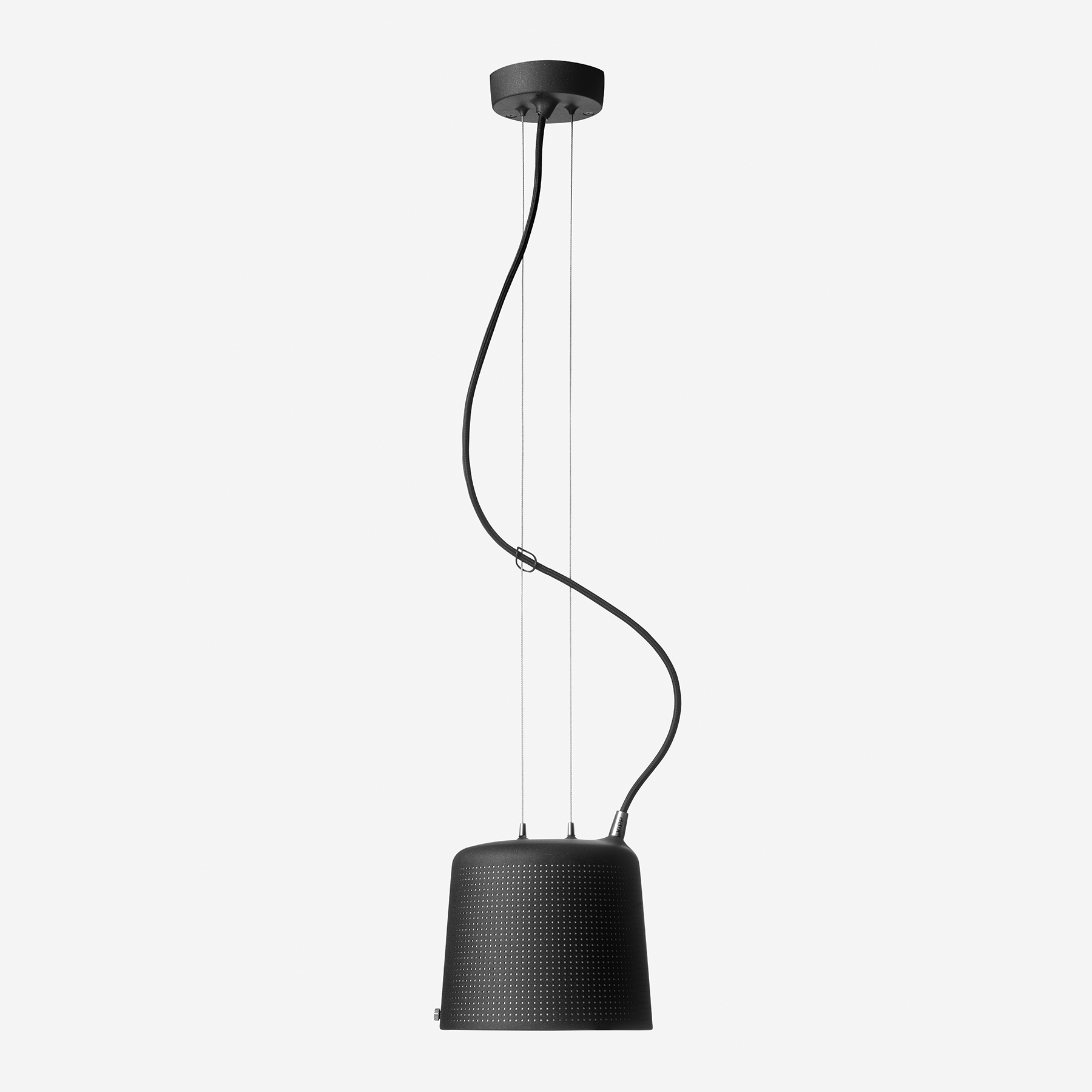 Vipp 528 Perforated Suspension Light Black Small