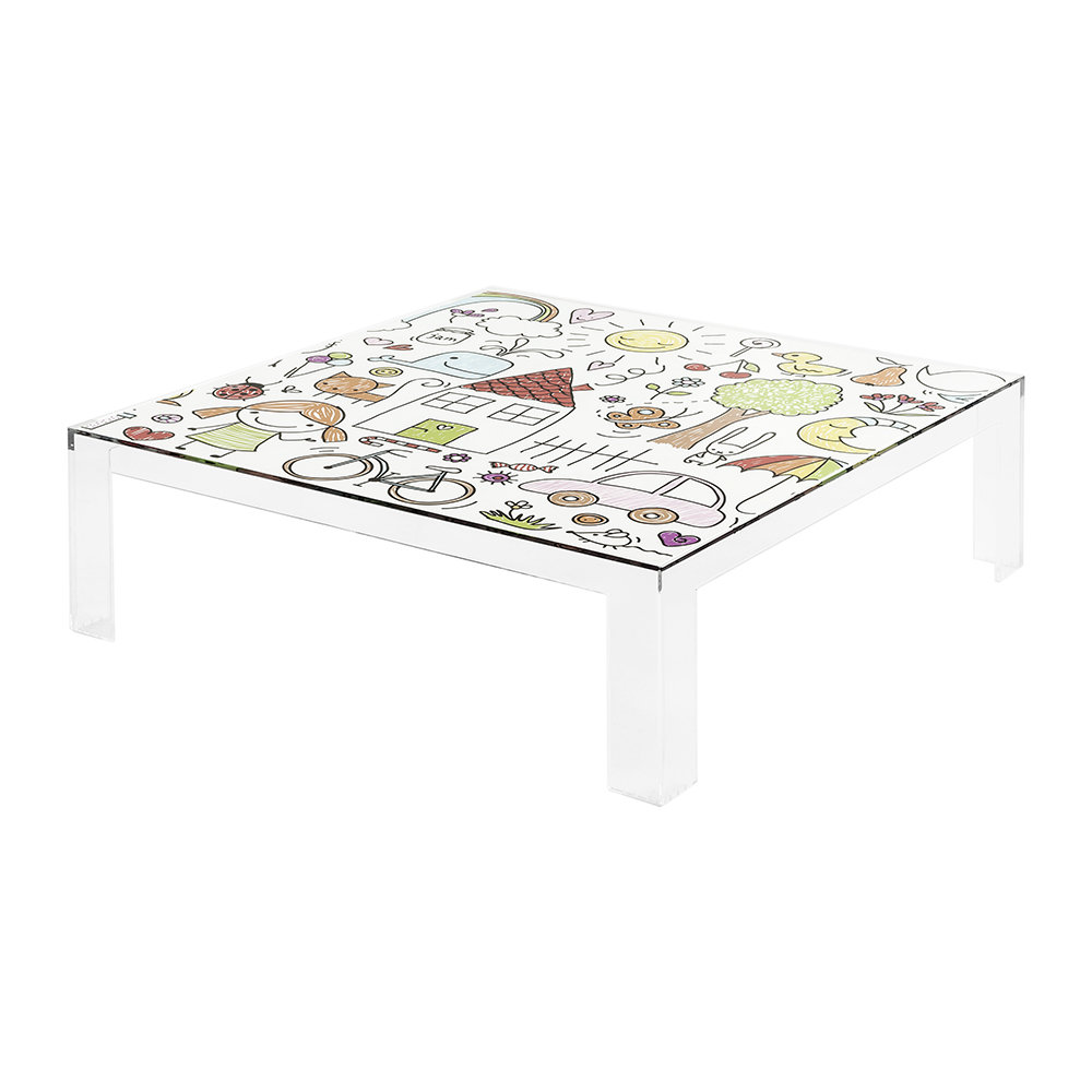 Kartell Children's Invisible Table Transparent Drawing