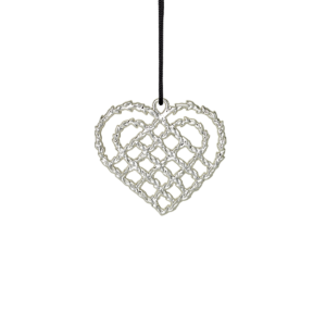 Rosendahl Karen Blixen Braided Christmas Heart Silver Plated