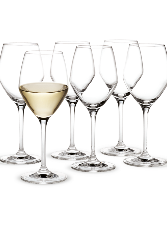 Holmegaard Perfection White Wine Glass 32cl 6pcs