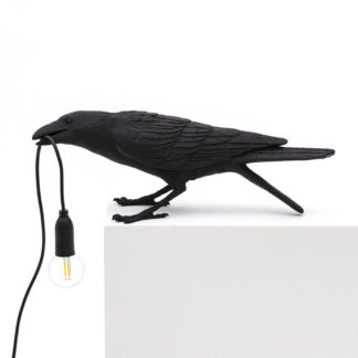 Seletti Playing Bird Table Light Black