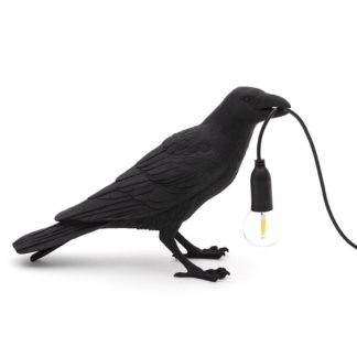 Seletti Waiting Bird Table Light Black