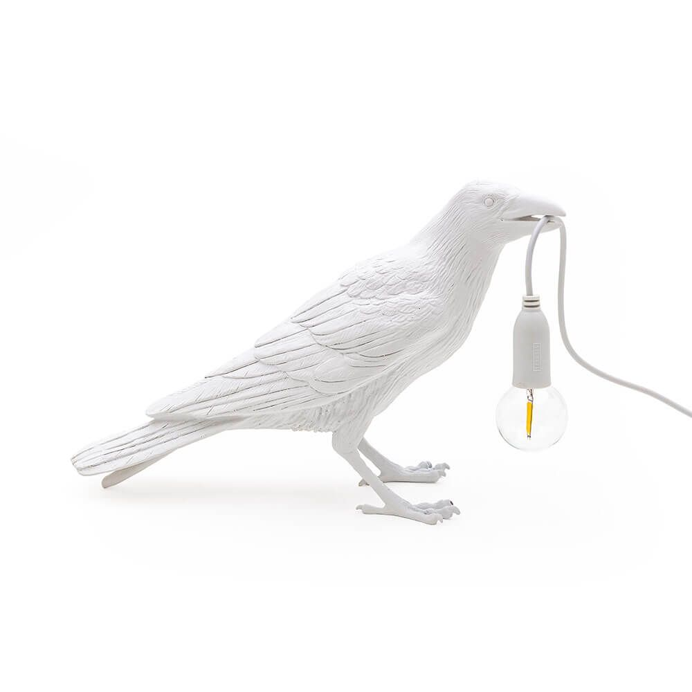 Seletti Waiting Bird Table Light White