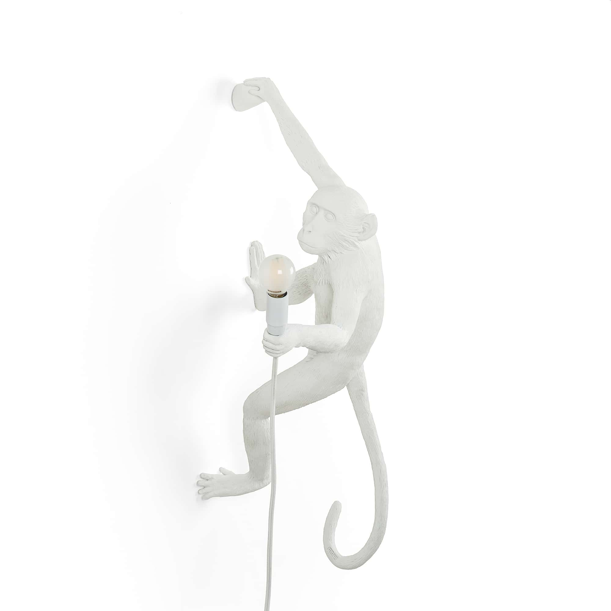 Seletti Monkey Right Hanging Wall Light White Outdoor