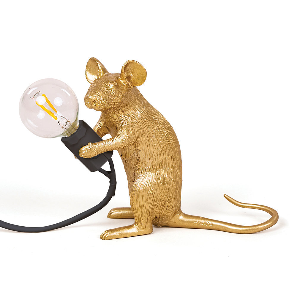Seletti Mouse Sitting Table Light Gold