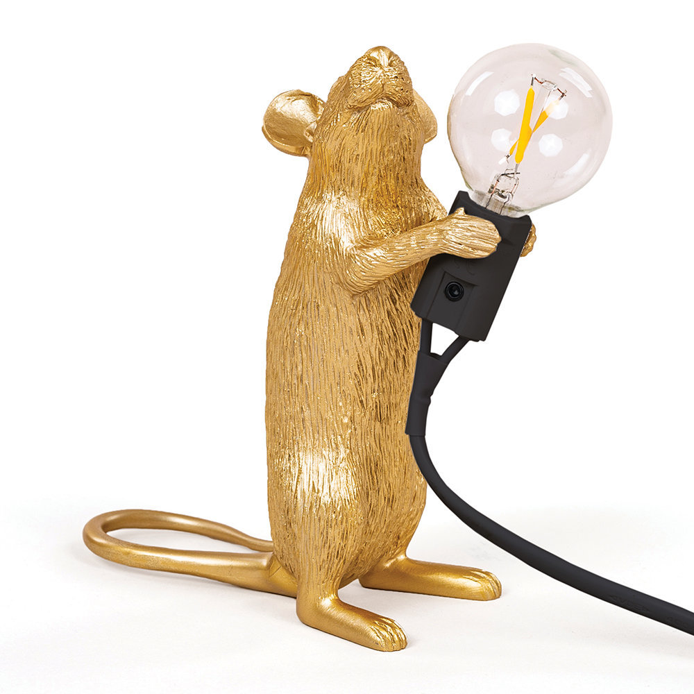 Seletti Mouse Standing Table Light Gold
