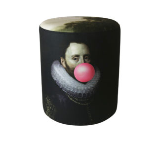 Mineheart Bubblegum Portrait Man Stool