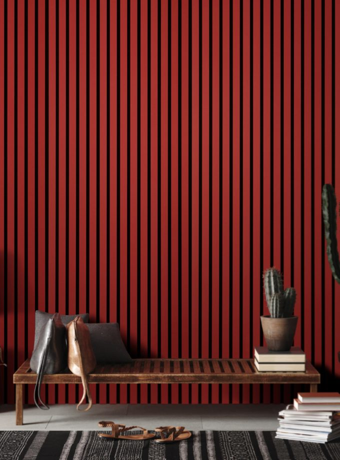Acupanel Scarlet Red Acoustic Wall Panel